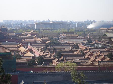 Utsikt mot Forbjudna Staden och Himmelska Fridens Torg