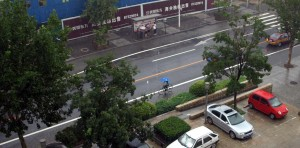 Det regnar på Hongyan Road