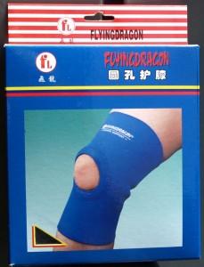 Knäskydd för att stabilisera knäet under löpning