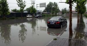 Översvämning på Xiyan Street