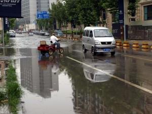 Översvämning Hongyannanyilu Road