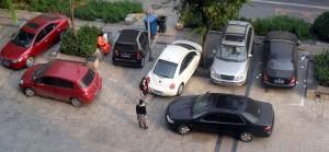 Lite oförargligt parkeringsbråk i Beijing