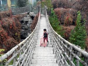 Ella på hängbron