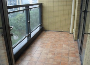 Städning av balkongen