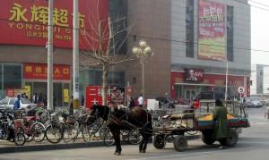 Fruktförsäljare utanför Yonghui