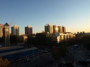 Soluppgång i Beijing 2011-11-23
