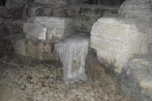 Lite vatten finns det kvar i form av is