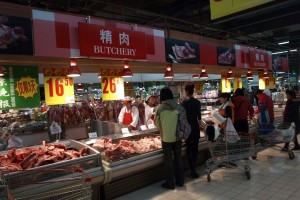 Ett av Carrefourvaruhusen i Beijing