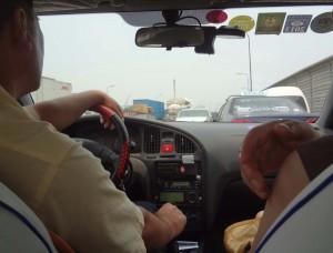 På väg till flygplatsen