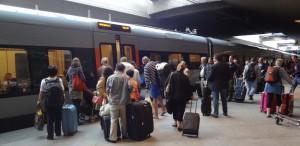 Tåget på Kastrup som kom innan det till Karlskrona gick till Helsingborg